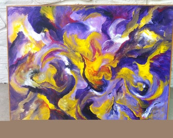 Original Abstract Acrylic Painting/Purple Haze