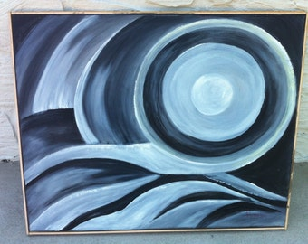 Sale: Was 350.00 NOW 175.00 Original Abstract Acrylic Painting/Moon Light