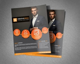 Corporate Flyer Template - options add photos and change text