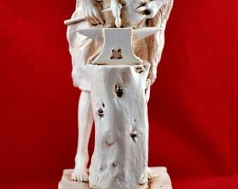 Hephaestus greek statue god of arts metal fire NEW