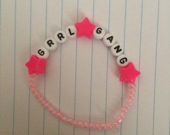 GRRL GANG beaded bracelet