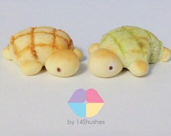 Cute Melon Bun Turtle Polymer Clay Charm