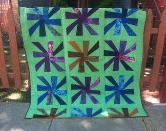 Modern twisters quilt