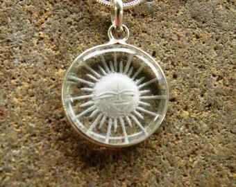 White Quatrz Sun Burst Necklace