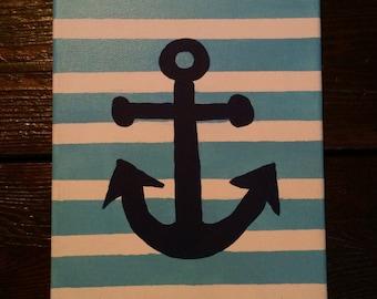 8 x 10 Acrylic Anchor Painting