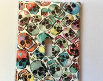 Skull design wall switch cover