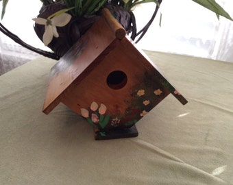 Hand painted/stained bird house