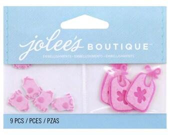 Jolee's Boutique Embellishments Baby Girl Onesies/Pajamas and Bibs