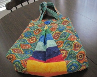 Multi Colored Pleated Tote/Bag/Purse