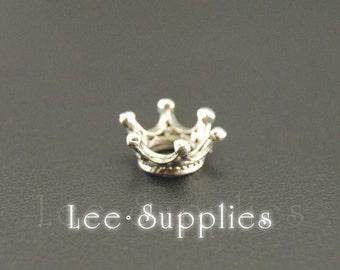 20pcs Mix Color Alloy 3D Princess Crown Charms Pendant A609/A725/A1034