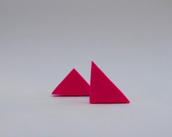 Triangle geometric earrings