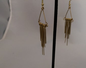 Brass sticks earrings