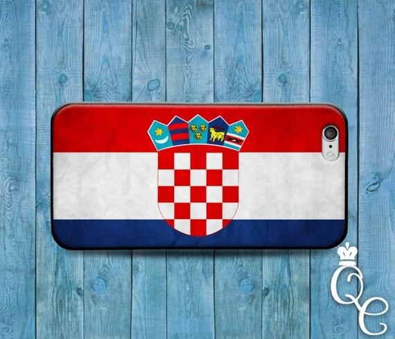 iPhone 4 4s 5 5s 5c SE 6 6s 7 plus iPod Touch 4th 5th 6th Gen Red Blue White Croatia Croatian National Nation Flag Country Case Phone Cover