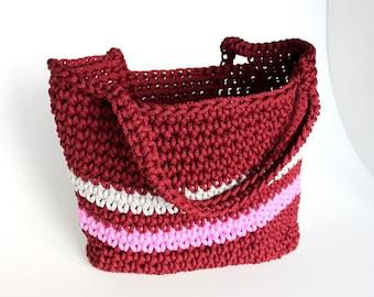 Crochet bag / crochet handbag / knitted bag / women sand bag / summer beach bag / Marketbag