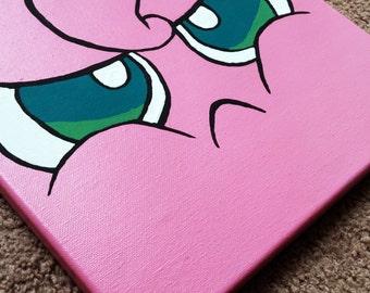 Pokemon Canvas Angry Jigglypuff