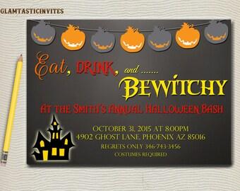 Halloween Invitation, Halloween Party Invitation, Halloween Invite, Halloween Birthday Party, Kids Halloween Invite, Halloween, Adult Party