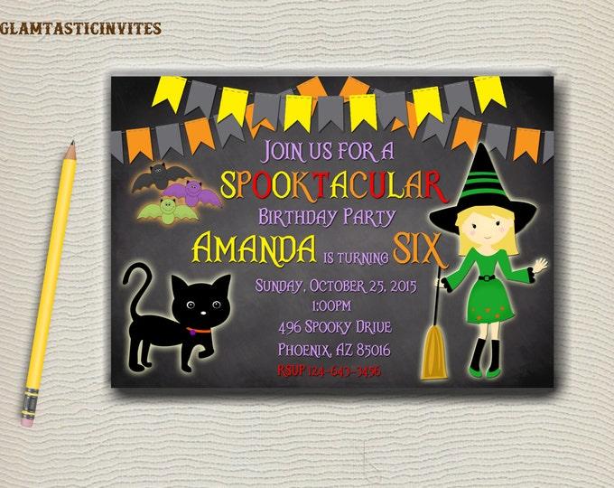 Halloween Birthday Invitation, Halloween Party Invitation, Halloween Invite, Halloween Birthday Party, Kids Halloween Invite, Halloween DIY