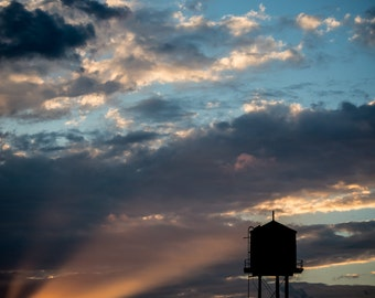 Watertower Rays - Photographic Print