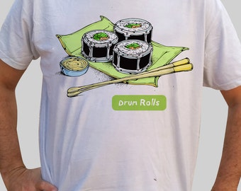 T-Shirt for drummers - Drum rolls (color)