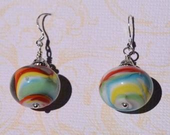 Le Cirque Lampwork Glass Bead Earrings