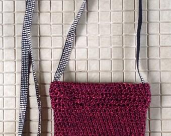 Shoulder bag cell phone & wallet - crochet