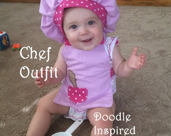 Baby Chef Hat and Apron Bib