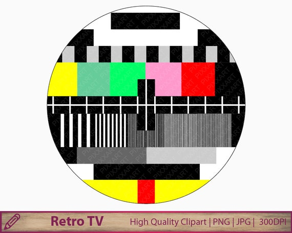 retro tv clip art. tv color test clipart, television clip art, digital retro screen, instant download, scrapbooking, commercial use, png jpg 300dpi from art