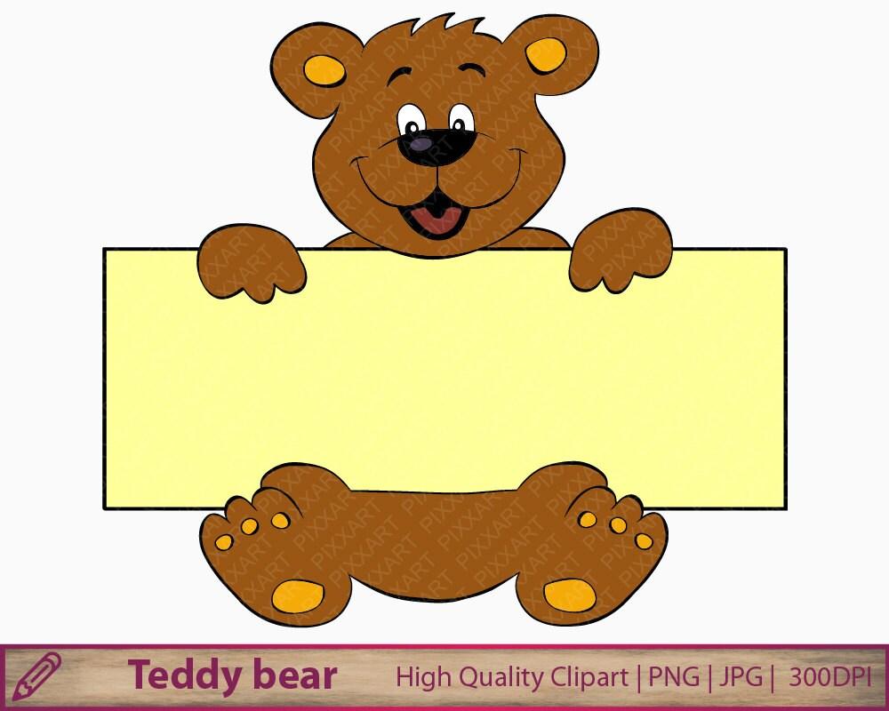 Bear banner clipart teddy bear clip art cute bear cartoon