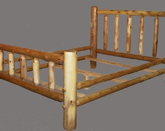 Solid Log Beds - Twin, Full, Queen, King