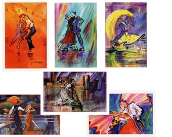 Contemporary Note Cards Set of 6 NC100