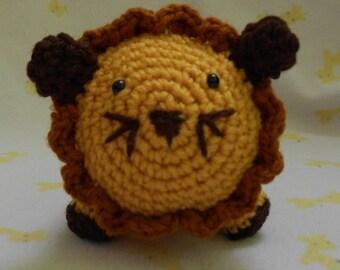 Crocheted Amigurumi Lion Stuffed Animal