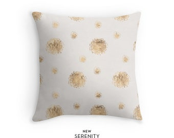 Pillow Cover, Dots Pillow Cover, Sandy, Decorative Pillow, Cushion Cover, Home Decor, NewSerenityStudio