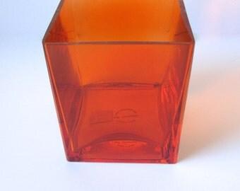 SALE* Orange Glass Bud Vase/Votive