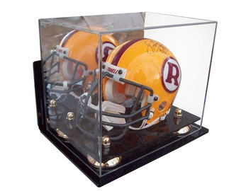 Mini Football Helmet Wall Mount or Table or Shelf Display Case