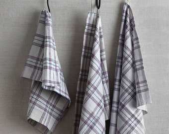 kitchen towels, vintage ticking, sold in pairs
