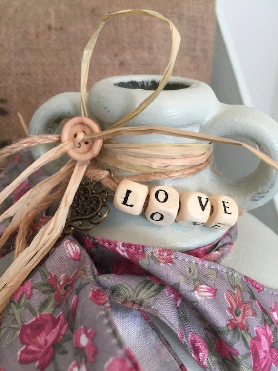 Italian Wedding Jar // Rustic Love Jar // Painted Glass Demijohn // Rustic Home Decor // Wedding Table // Farmhouse Style // Inspiring Words