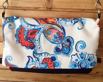 Printed Fabric,Canvas Tote, Messenger Bag, Crossbody Bag, Foldover Purse