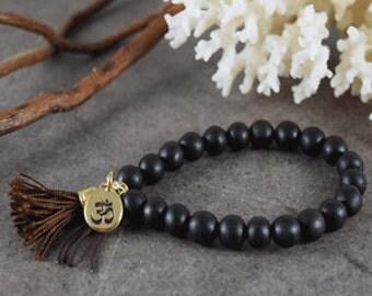 Black Wood with Om charm (150044)