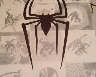 Spiderman collage drawing poster