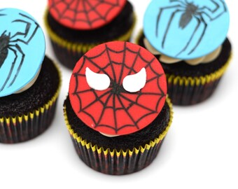 Spider-man Cupcake Toppers - set of 12
