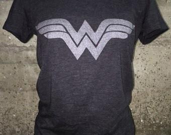 Charcoal Black Wonder Woman Tee