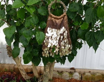 Beaded taupe vintage evening bag