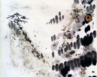 Carmel Valley Moon ~ Contemporary Asian Scroll