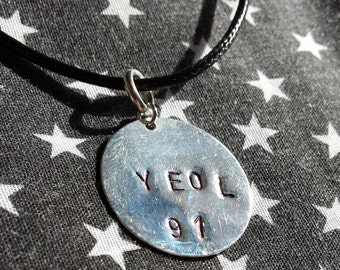 "Sungyeol Infinite ""Yeol 91"" Stamp Necklace - Inspirit"