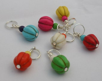 Little Pumpkin Stitch Markers - Set of 5 or 7