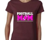 Football Mom Tshirt Best Mom Ever Tee Sport  Support Tee Ladies Tshirt