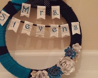 Custom Wreath with Banner