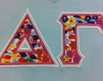Items similar to scalloped banner letter personalized and for Cute greek letter shirts