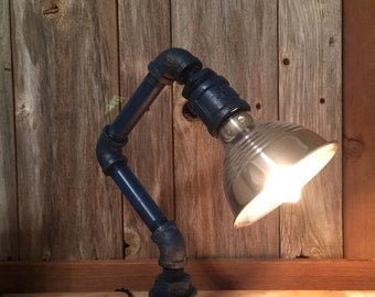 Blue Pipe Lamp - SALE!
