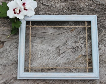 """Shabby chic home decor. Rustic picture frame. Clothes pin picture frame. Wedding reception decor. 8""""X10"""" rustic photo frame. cottage chic"""